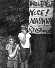 1960s  Hold your nose! Nashua River ahead