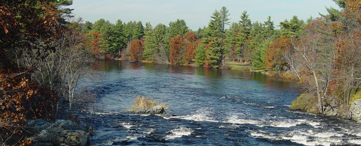 Nashua River at Runnels Bridge in Hollis, NH