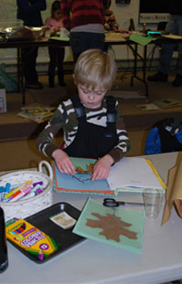 A nature scrapbook workshop at the Nashua River Watershed Association