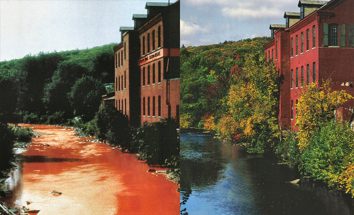 The Nashua River in the 1960's and 1980's