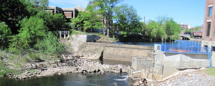 NRWA gathered data on river conditions near the Jackson Falls dam in Nashua, NH