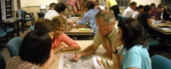 NRWA provides professional workshops like this planning workshop led by Randall Arendt - Photo by Pam Gilfillan