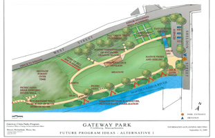 Plans for the Gateway Park in Fitchburg, MA